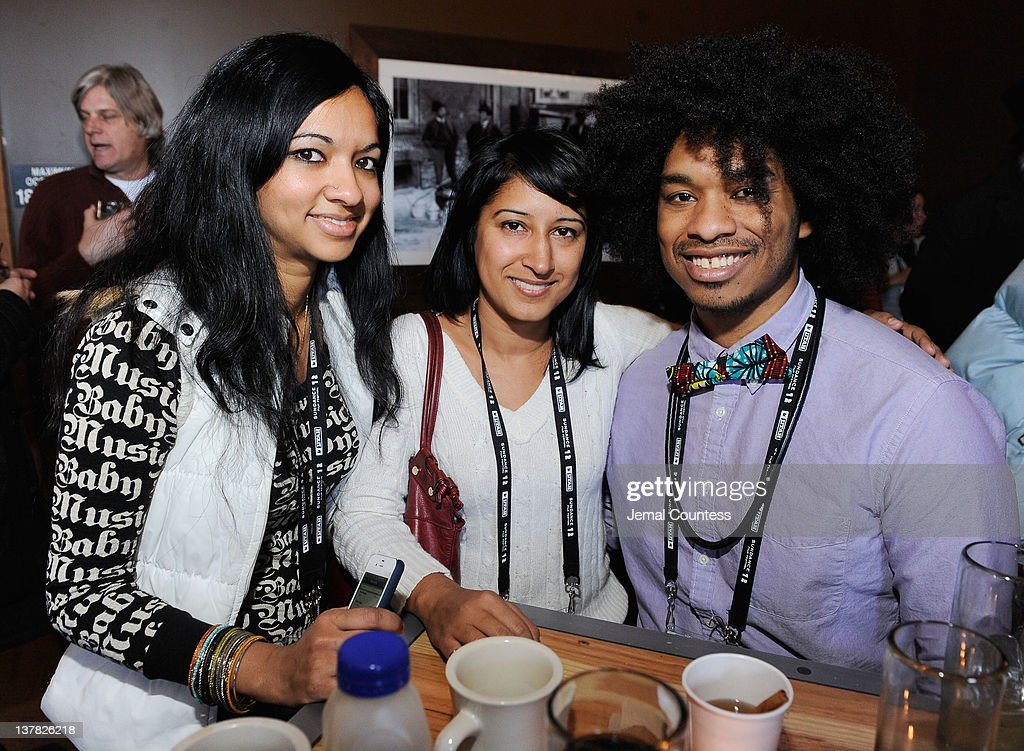 Ginggar Shankar, Meudy Chandra and Terence Nance attend the Alfred P. Sloan Foundation Reception & Prize Announcement during the 2012 Sundance Film Festival on January 27, 2012 in Park City, Utah.