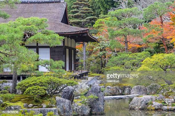 Ginkakuji Temple (Silver Pavilion)  in Kyoto, Japan