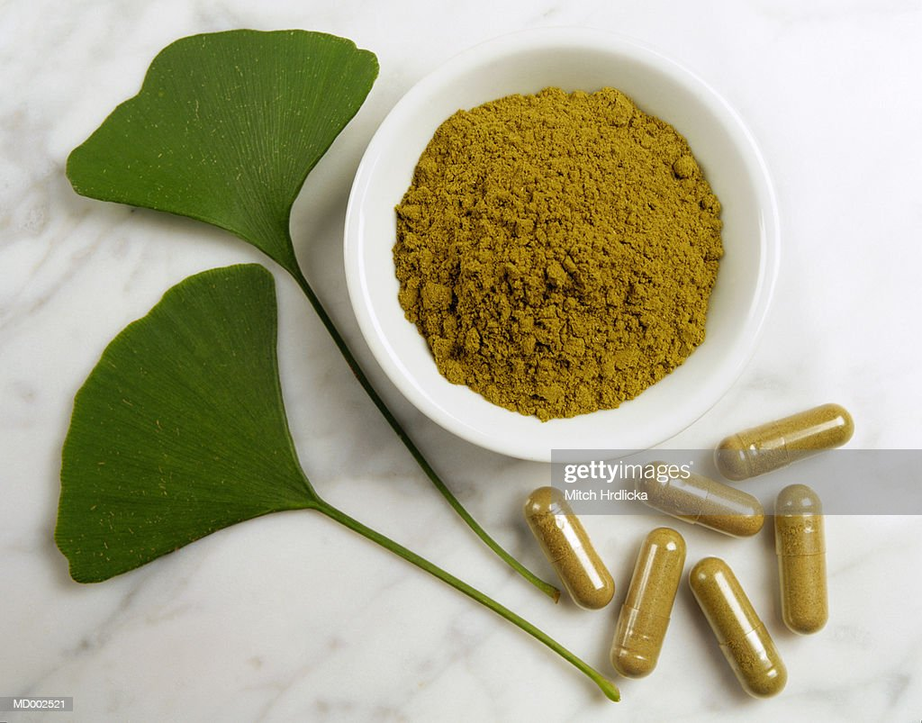 Ginkgo Leaves, Powder and Capsules
