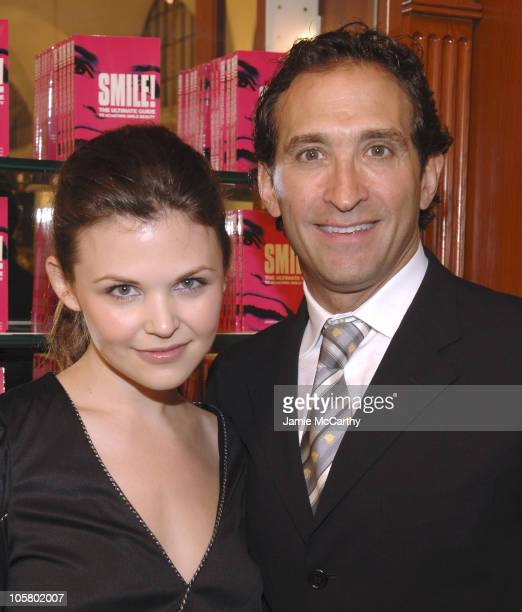 Ginnifer Goodwin and Dr Jonathan Levine during GoSmile Dr Jonathan Levine Launches his New Book 'Smile' at Sephora in New York City New York United...