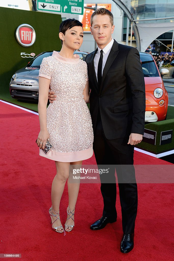 <a gi-track='captionPersonalityLinkClicked' href=/galleries/search?phrase=Ginnifer+Goodwin&family=editorial&specificpeople=215039 ng-click='$event.stopPropagation()'>Ginnifer Goodwin</a> and Josh Dallas attend Fiat's Into The Green during the 40th American Music Awards held at Nokia Theatre L.A. Live on November 18, 2012 in Los Angeles, California.