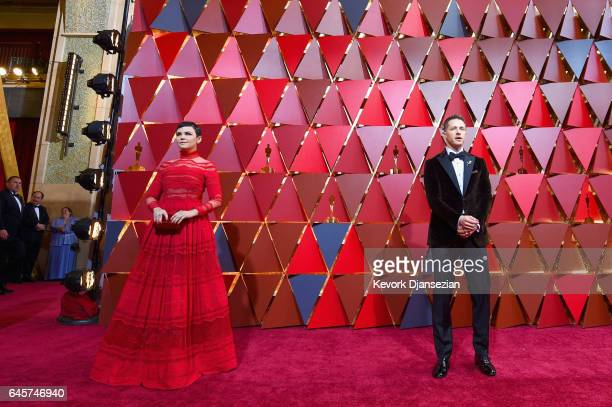 Ginnifer Goodwin and Josh Dallas attend the 89th Annual Academy Awards at Hollywood Highland Center on February 26 2017 in Hollywood California