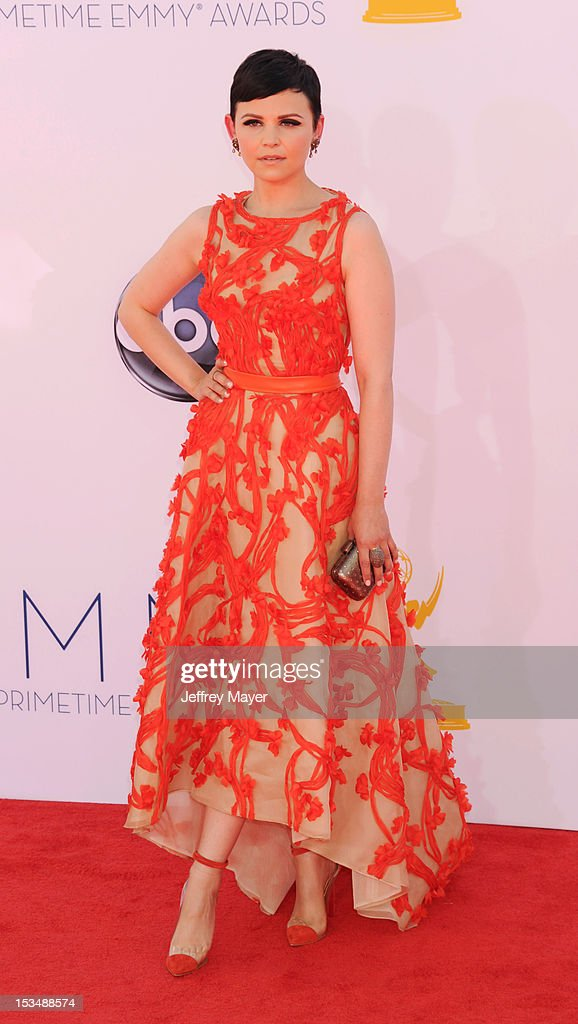 Ginnifer Goodwin arrives at the 64th Primetime Emmy Awards at Nokia Theatre L.A. Live on September 23, 2012 in Los Angeles, California.