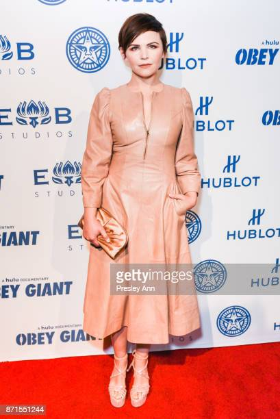 Ginnifer Goodwin attends Photo Op For Hulu's 'Obey Giant' at The Theatre at Ace Hotel on November 7 2017 in Los Angeles California