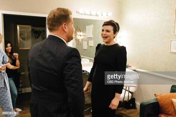 Ginnifer Goodwin chats in the green room with James Corden during 'The Late Late Show with James Corden' Monday June 19 2017 On The CBS Television...