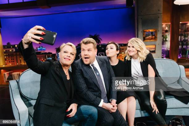 Ginnifer Goodwin Jillian Bell Eddie Izzard chat with James Corden during 'The Late Late Show with James Corden' Monday June 19 2017 On The CBS...