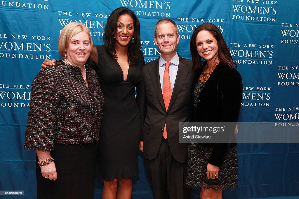 Ginny Day, Sarah Jones, Brad Raymond and Soledad O'Brien attend New York Women's Foundation 25th Anniversary Celebration at Alice Tully Hall on October 23, 2012 in New York City.