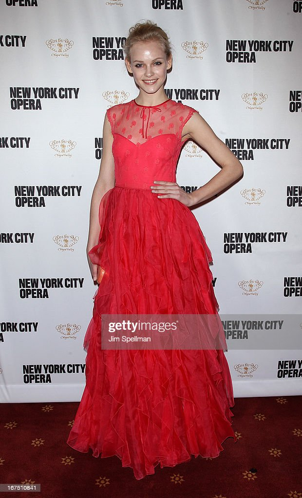 Ginta Lapina attends the 2013 New York City Opera Spring Gala at New York City Center on April 25, 2013 in New York City.