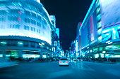 Ginza at night, Tokyo Prefecture, Honshu, Japan