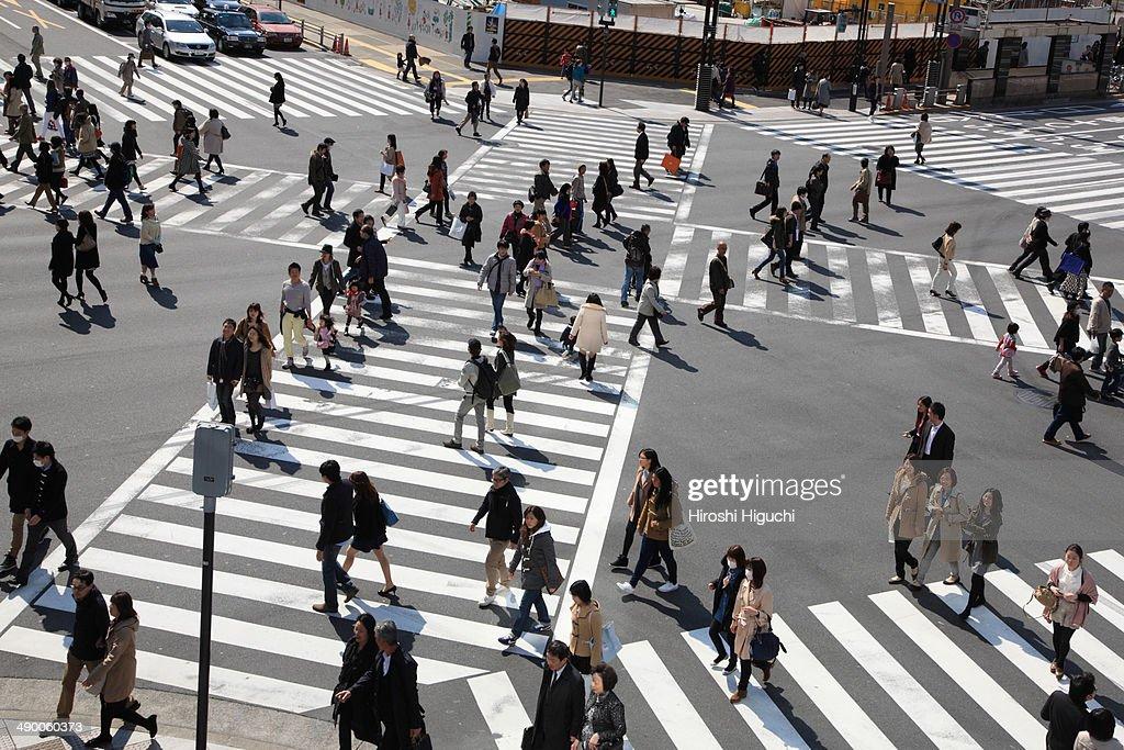 Ginza Crossing, Tokyo, Japan