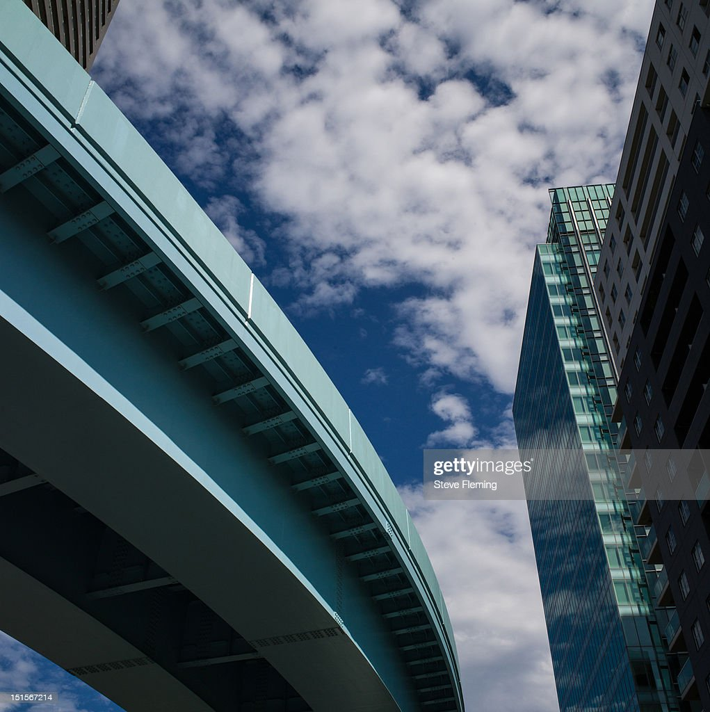 Ginza Monorail in Tokyo : Stock Photo