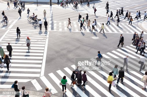 Ginza pedestrian crossing in Tokyo