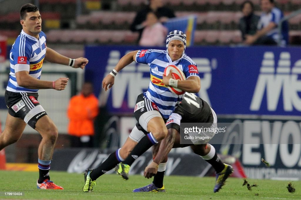 Gio Aplon of Western Province during the Absa Currie Cup match between DHL Western Province and The Sharks from DHL Newlands on September 07 2013 in...