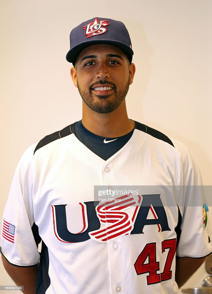 <a gi-track='captionPersonalityLinkClicked' href=/galleries/search?phrase=Gio+Gonzalez&family=editorial&specificpeople=759378 ng-click='$event.stopPropagation()'>Gio Gonzalez</a> #47 of Team USA poses for a headshot for the 2013 World Baseball Classic on Monday, March 11, 2013 at Marlins Park in Miami, Florida.