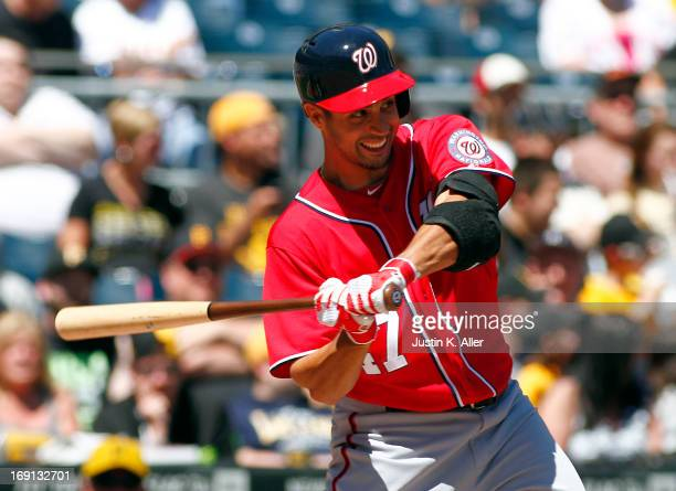 Gio Gonzalez of the Washington Nationals bats against the Pittsburgh Pirates during the game on May 5 2013 at PNC Park in Pittsburgh Pennsylvania
