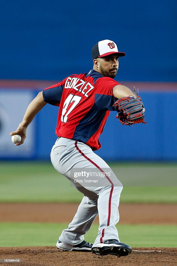 <a gi-track='captionPersonalityLinkClicked' href=/galleries/search?phrase=Gio+Gonzalez&family=editorial&specificpeople=759378 ng-click='$event.stopPropagation()'>Gio Gonzalez</a> #47 of the Washington Nationals pitches against the New York Mets at Tradition Field on February 25, 2013 in Port St. Lucie, Florida.