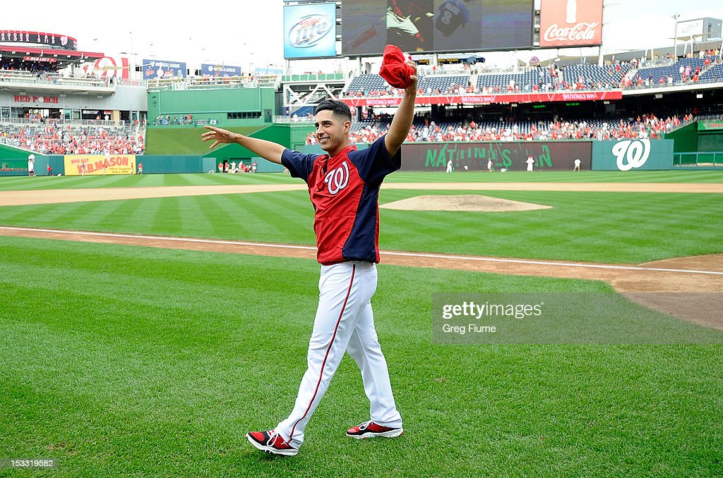 <a gi-track='captionPersonalityLinkClicked' href=/galleries/search?phrase=Gio+Gonzalez&family=editorial&specificpeople=759378 ng-click='$event.stopPropagation()'>Gio Gonzalez</a> #47 of the Washington Nationals waves to the crowd after a 5-1 victory against the Philadelphia Phillies at Nationals Park on October 3, 2012 in Washington, DC.