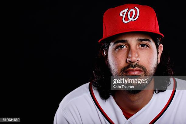 Gio Gonzalez poses for a portrait at Spring Training photo day at Space Coast Stadium on February 28 2016 in Viera Florida