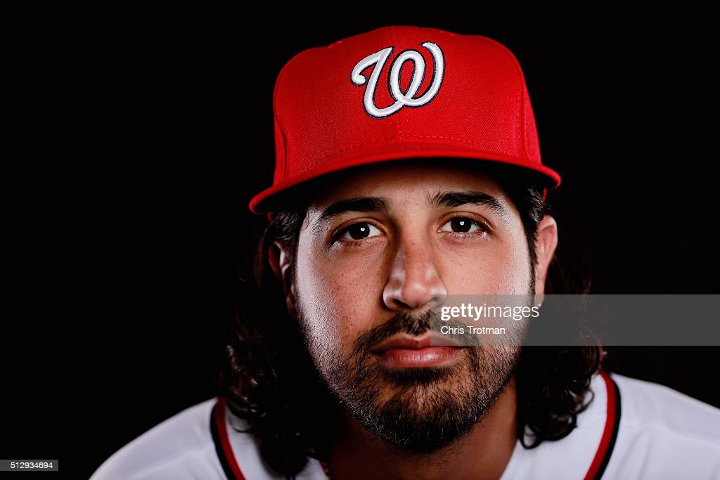 Gio Gonzalez poses for a portrait at Spring Training photo day at Space Coast Stadium on February 28, 2016 in Viera, Florida.