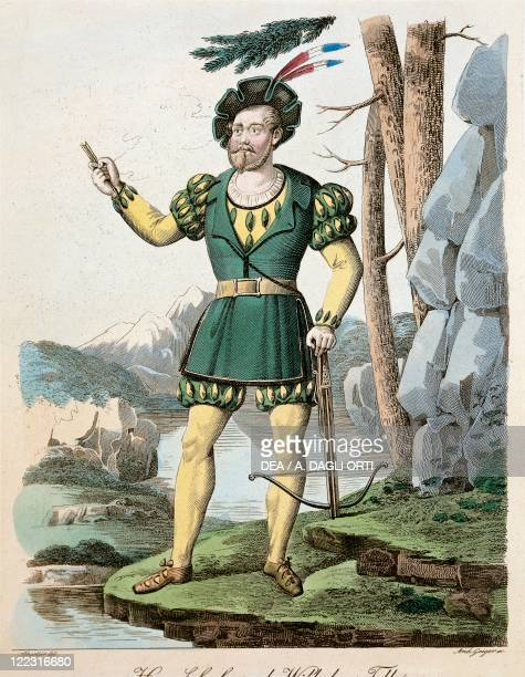 Gioacchino Rossini Guillaume Tell 1828 Costume sketch for Guillaume Tell Performance at Vienna 1833