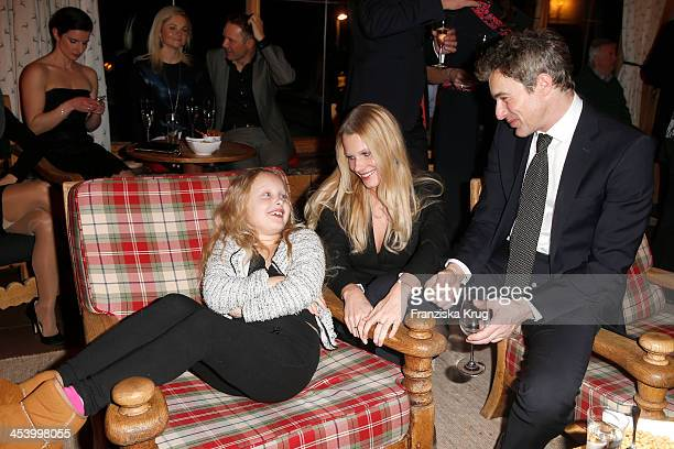 Gioia Filomena Burkhard Anika Bormann and Gedeon Burkhard attend the Gala Dinner At Kuehtai Castle Tirol Cross Mountain 2013 on December 06 2013 in...
