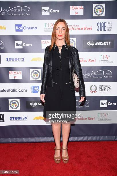 Gioia Libardoni attends the 12th Edition of the Los Angeles Italia Film Fashion and Art Fest at TCL Chinese 6 Theatres on February 24 2017 in...
