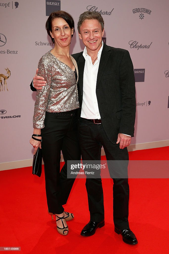 Gioia Raspe and Axel Pape arrives at Tribute To Bambi at Station on October 17, 2013 in Berlin, Germany.