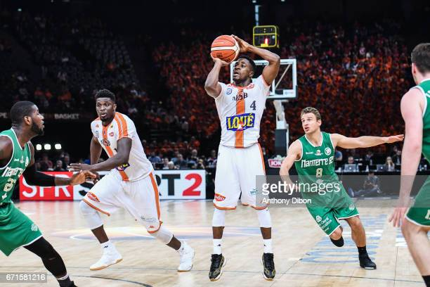 Giordan Watson of Le Mans during the Final of the French Cup between Le Mans and JSF Nanterre at AccorHotels Arena on April 22 2017 in Paris France