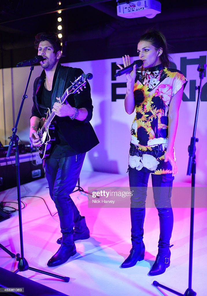 Giorgi and Leo perform at the Fashion Fringe 10 Year Anniversary Party at the London Film Museum on December 3, 2013 in London, England.