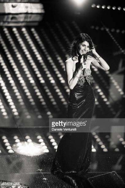 Giorgia attends the second night of the 67th Sanremo Festival 2017 at Teatro Ariston on February 8 2017 in Sanremo Italy