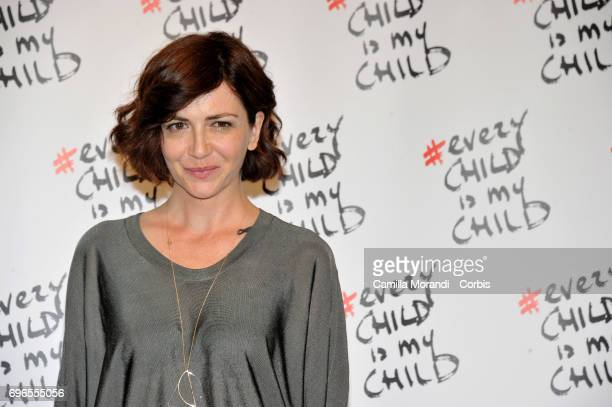 Giorgia Cardaci attends the 'Every Child Is My Child' Presentation In Rome on June 16 2017 in Rome Italy
