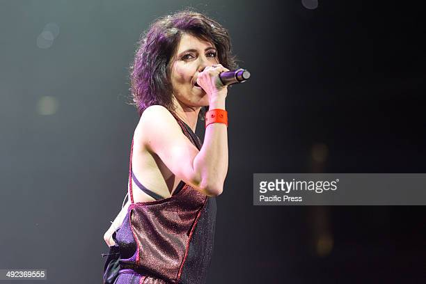 Giorgia famous italian singer performs at Palaolimpico of Turin during her tour called 'Senza Paura Tour 2014' Giorgia Todrani best known as Giorgia...