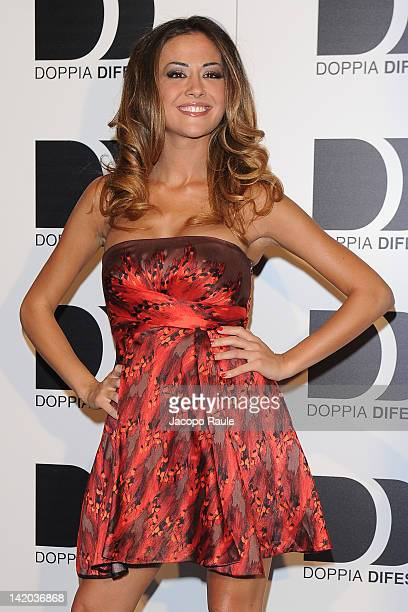 Giorgia Palmas attends 2012 Doppia Difesa Cocktail Party on March 28 2012 in Milan Italy