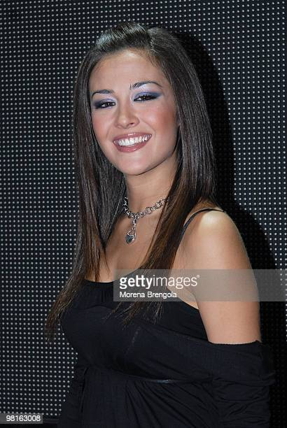 Giorgia Palmas attends 'Cd live' tv show on March 21 2007 in Milan Italy