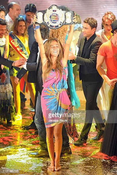 Giorgia Palmas attends 'L'Isola Dei Famosi' The Final on April 26 2011 in Milan Italy