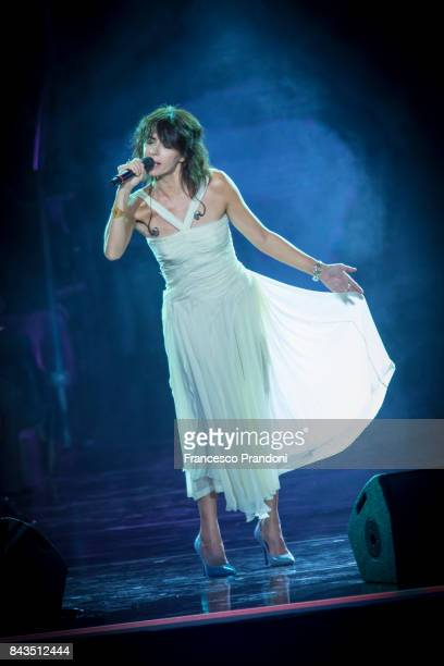 Giorgia performs at Luciano Pavarotti 10th Anniversary Concert in Arena di Verona on September 6 2017 in Verona Italy