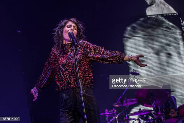 Giorgia performs at Mediolanum Forum on March 24 2017 in Milan Italy