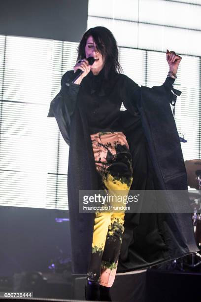 Giorgia performs at Unipol Arena on March 22 2017 in Bologna Italy