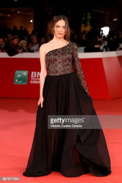 Giorgia Radulescu walks a red carpet for 'Prendre La Large' during the 12th Rome Film Fest at Auditorium Parco Della Musica on October 29 2017 in...