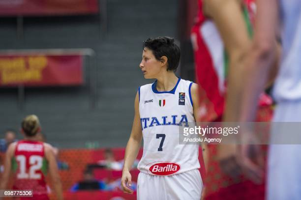 Giorgia Sottana of Italy in action during the 2017 FIBA EuroBasket Women qualifications for quarter finals between Hungary and Italy at Hradec...