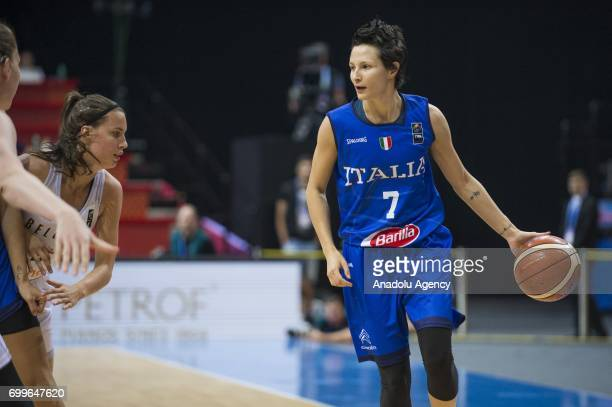 Giorgia Sottana of Italy in action during the 2017 FIBA EuroBasket Women quarter finals between Belgium and Italy at Prague Arena in Prague Czech...