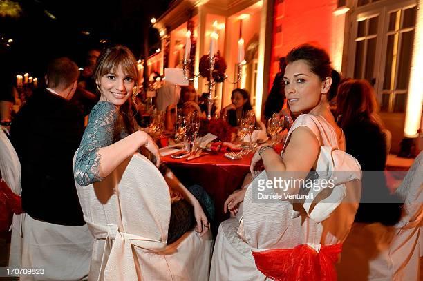 Giorgia Surina and Gaia Bermani Amaral attend Taormina Filmfest and Prince Albert II Of Monaco Foundation Gala Dinner at on June 16 2013 in Taormina...