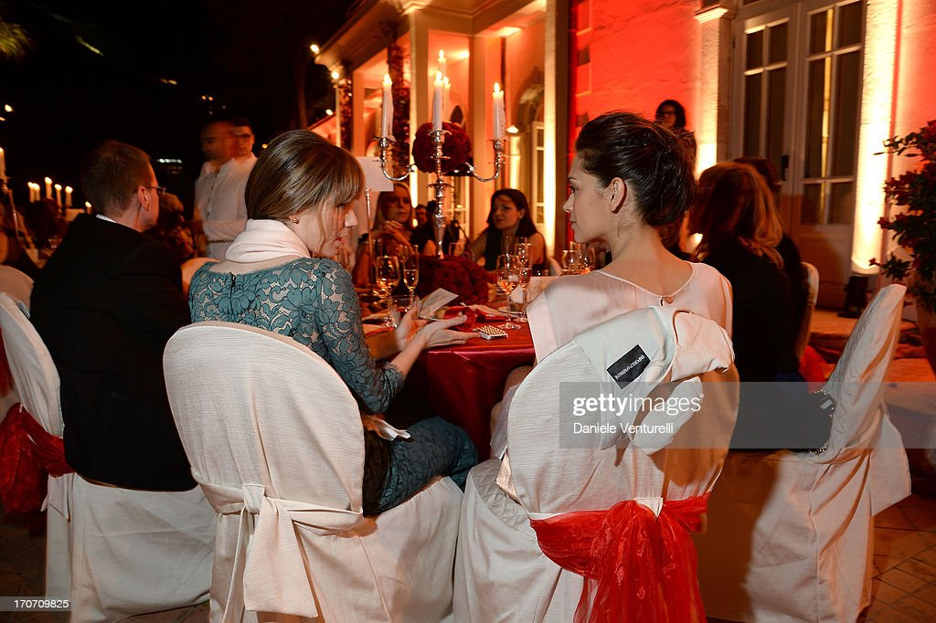 Giorgia Surina and Gaia Bermani Amaral attend Taormina Filmfest and Prince Albert II Of Monaco Foundation Gala Dinner at on June 16, 2013 in Taormina, Italy.