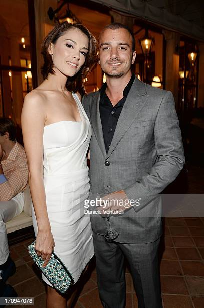 Giorgia Surina and Nicolas Vaporidis attend Taormina Filmfest 2013 2013 at Teatro Antico on June 20 2013 in Taormina Italy