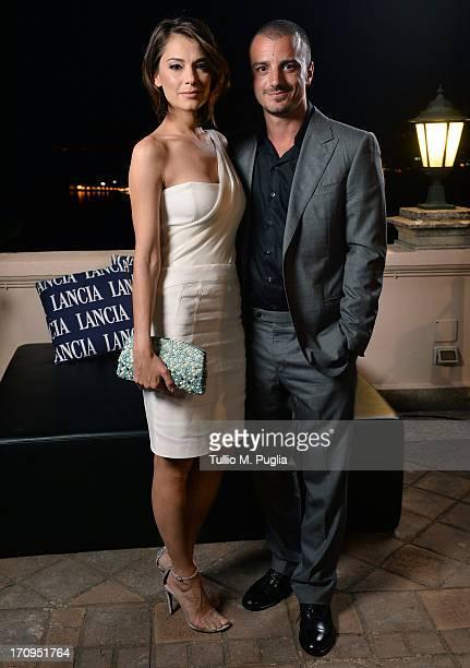 Giorgia Surina and Nicolas Vaporidis attend the Lancia Cafe during the Taormina Filmfest 2013 on June 20 2013 in Taormina Italy