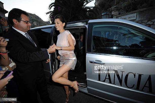Giorgia Surina arrives at the Lancia Cafe during the Taormina Filmfest 2013 on June 16 2013 in Taormina Italy