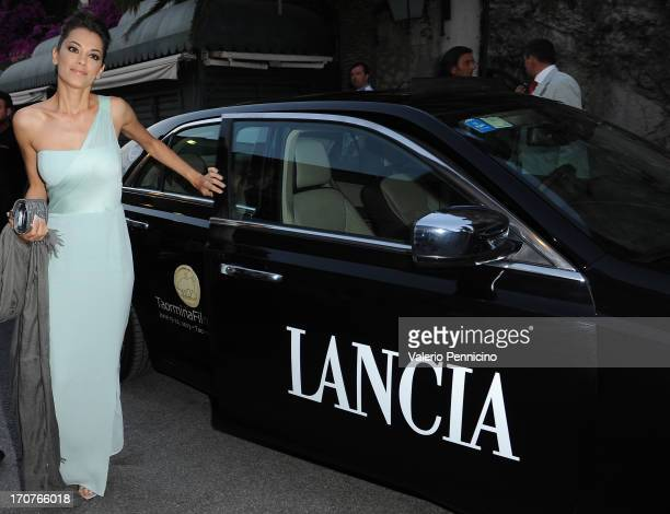 Giorgia Surina arrives at the Lancia Cafe in Taormina during the Taormina Filmfest 2013 on June 17 2013 in Taormina Italy
