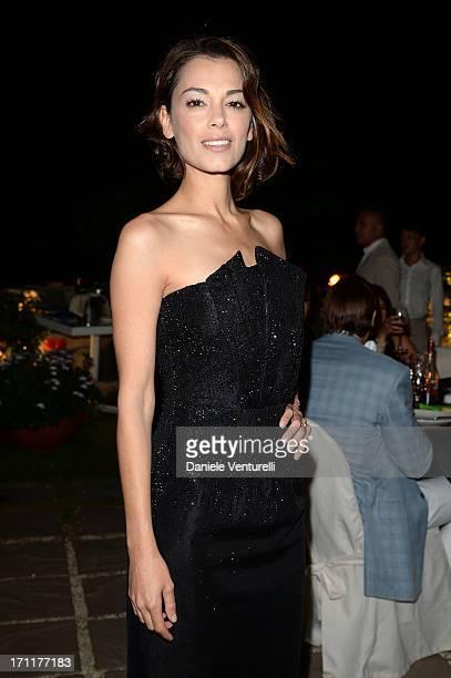 Giorgia Surina attends GruppoGreen Network and Taormina Filmfest Host Gala Dinner at Hotel La Plage Resort on June 22 2013 in Taormina Italy