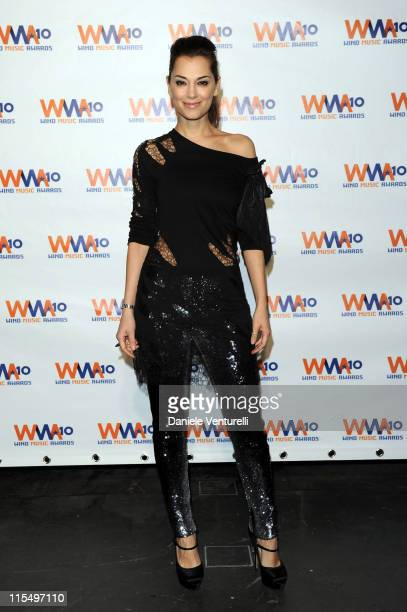 ACCESS *** Giorgia Surina attends the Wind Music Awards Backstage at the Arena of Verona on May 29 2010 in Verona Italy
