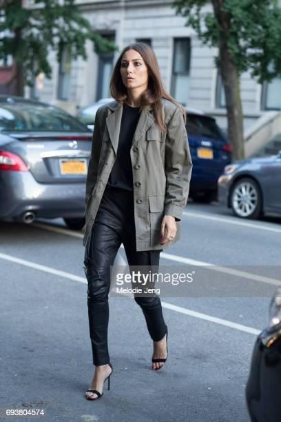 Giorgia Tordini outside the Stella McCartney Spring 18 presentation on June 8 2017 in New York City